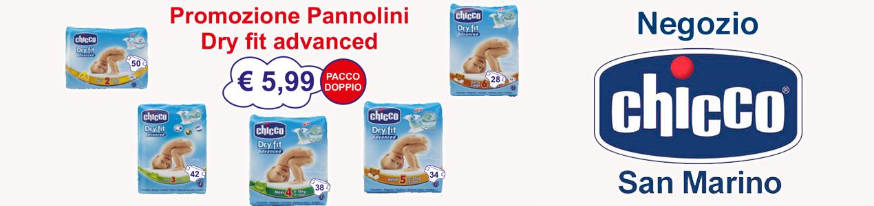 promozione pannolini dry fit advanced chicco negozio san marino bimbi neonati