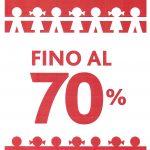 SALDI FINO AL 70% SU ABBIGLIAMENTO E SCARPINE DELLA COLLEZIONE AUTUNNO E INVERNO